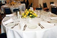 Golden Wedding Lunch table setting